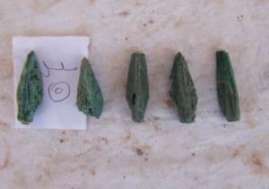 Punte di freccia trovate nella fortezza (SCA)