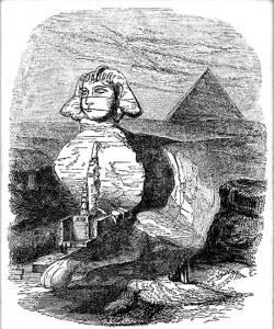 Le caverne sotto la Sfinge disegnate da Giovanni Caviglia