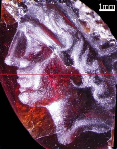 L'incisione di Alessandro Magno trovata a Tel Dor (No'a Raban-Gerstel, University of Haifa)