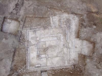 Immagine della sinagoga dall'alto (SkyView)