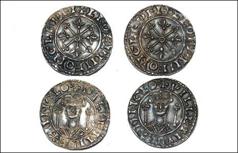 Le monete sono dell'epoca di Guglielmo I (BBC)