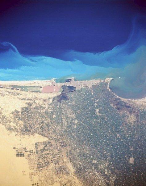 Alessandria vista dal satellite (NASA)