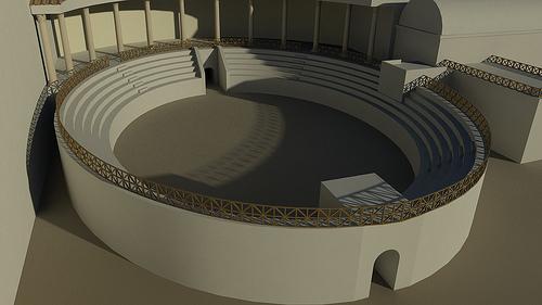 Ricostruzione dell'Anfiteatro (Gareth Beale-ACRG)