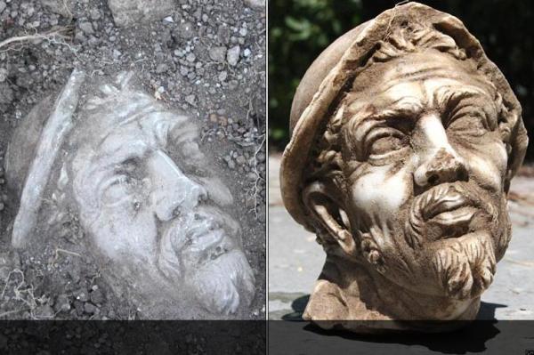 Una statua di Ulisse dissotterrata (BBC)