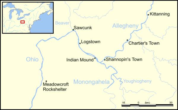 Localizzazione di Meadowcroft (wiki)