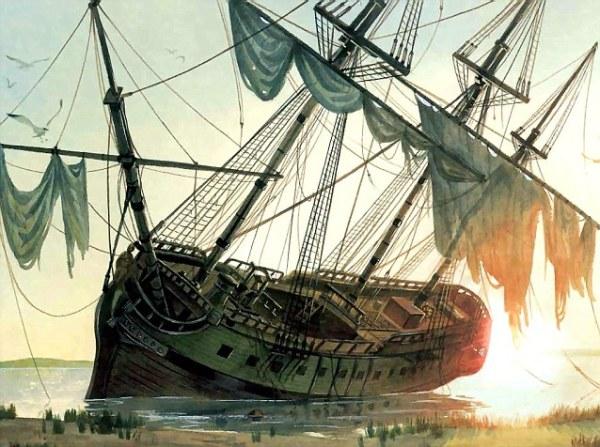 Rappresentazione della Queen Anne's Revenge