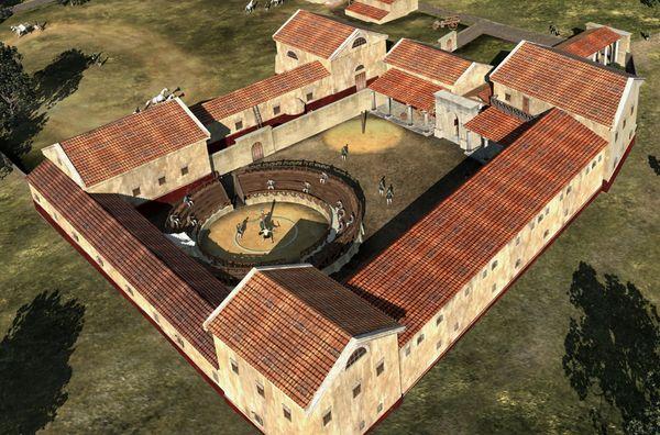 Una ricostruzione della scuola gladiatoria a Carnunto (LBI ArchPro)