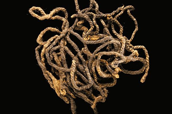 Il cordame fatto alla maniera vichinga ritrovato sull'isola di Baffin (National Geographic)