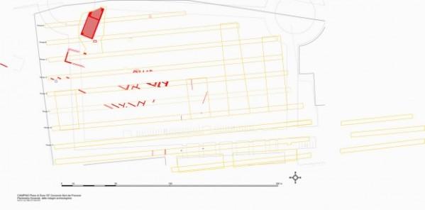 La planimetria della villa (MiBAC)