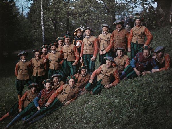Un gruppo di uomini tedeschi negli anni '20 (Hans Hildenbrand, National Geographic)