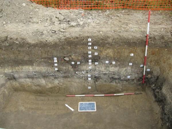 La complessa stratigrafia del sito di Ca' Baredi (Università di Udine)