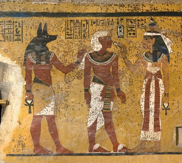 Una pittura murale della tomba di Tutankhamon (Robert Jensen - J. Paul Getty Trust)