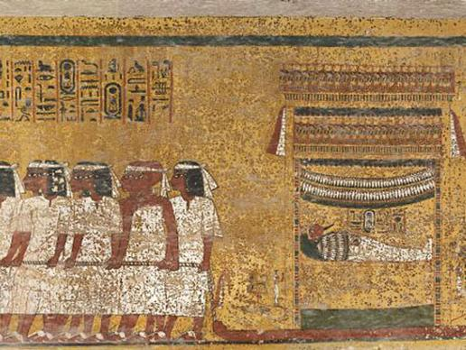 Scena funeraria nella tomba di Tutankhamon (Getty Images. Robert JensenCredi)
