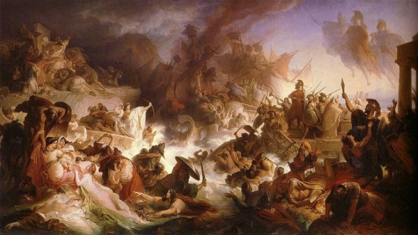 La battaglia di Salamina di Wilhelm von Kaulbach (wikipedia)