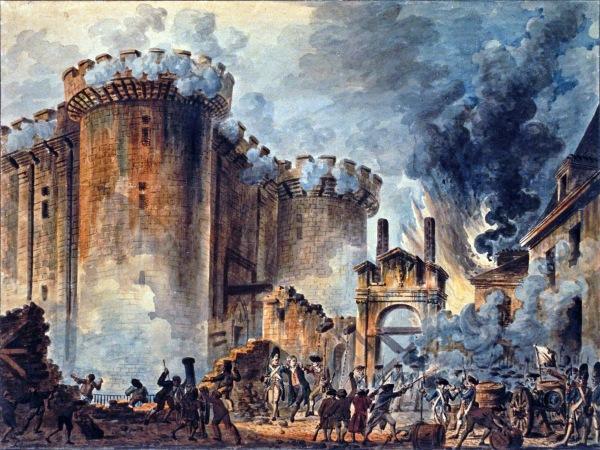 Presa della Bastiglia, dipinto di Jean-Pierre Houël (1789) (wikipedia)