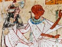 Nel particolare il birraio e la moglie durante un rituale (Supreme Council of Antiquities, AP)