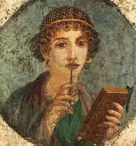 Dipinto pompeiano detto Saffo (wikimedia)