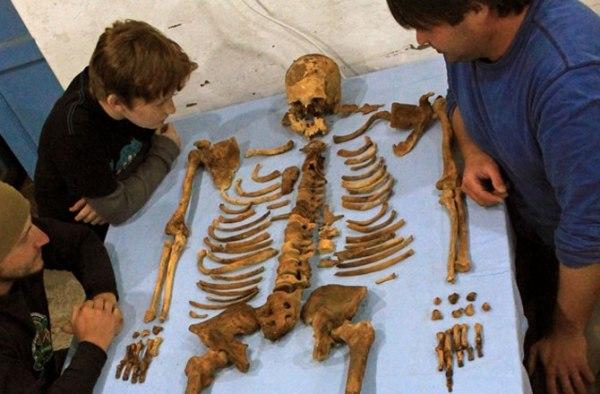 Lo scheletro di Woseribre Senebkay (Jennifer Wegner, Penn Museum)