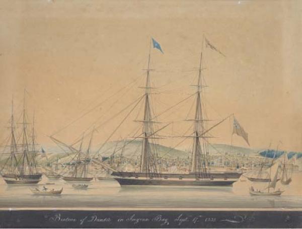 (Acquerello di Mathieu-Antoine Roux o Raffaele Corsini, attribuzione incerta, 1832)