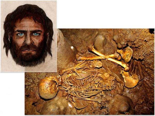 Questo cacciatore di 8000 anni trovato in Spagna aveva la pelle scura e gli occhi azzurri (J.M. Vidal Encina; (illustration, inset) CSIC)