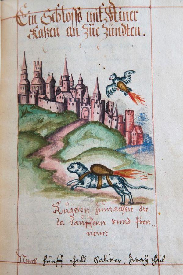 Illustrazione da un manuale di artiglieria del 1584, custodito all'Università della Pennsylvania (Matt Rourke, AP)