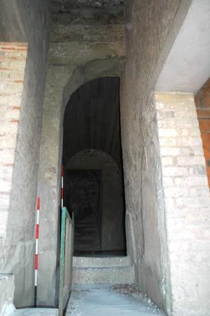 Insula Occidentalis, Casa di Marco Fabio Rufo, corridoio da ovest, Porta Occidentalis (Suor Orsola Benincasa)