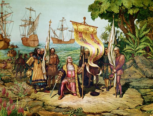 Cristoforo Colombo approda a San Salvador (Bettmann, CORBIS)