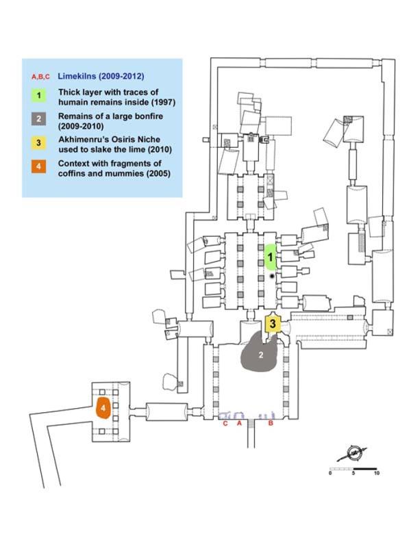 Mappa dello scavo (N. Cijan, Associazione Culturale per lo Studio dell'Egitto e del Sudan ONLUS)