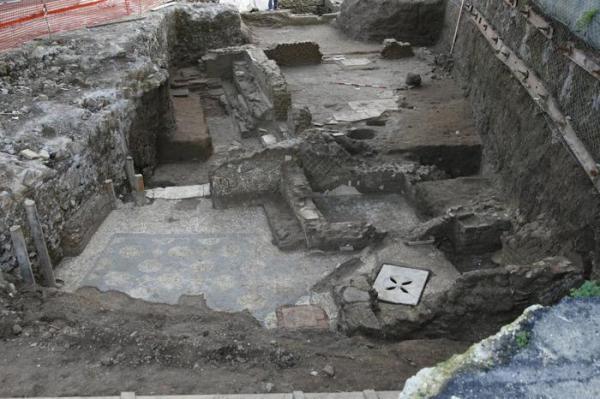 Un impianto termale femminile  (ANSA/Soprintendenza archeologica di Roma)