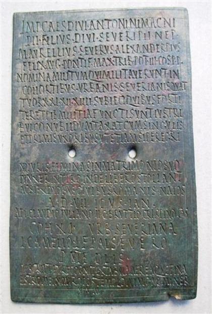 L'antico diploma militare romano (Corriere del Mezzogiorno)