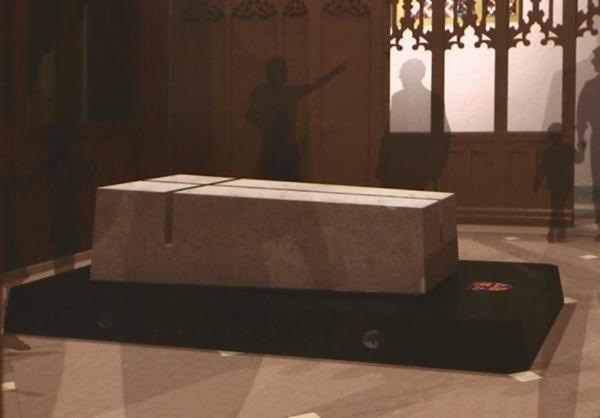 La tomba di Riccardo III (Video Screengrab, Diocese of Leicester)