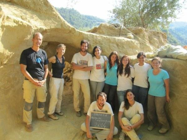 Il gruppo degli archeologi (Università degli Studi di Udine)