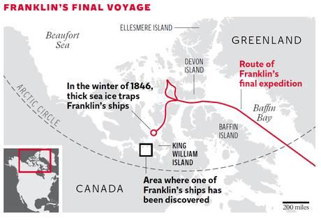 Il viaggio finale di Franklin (The Independent)
