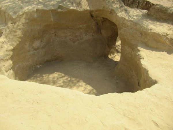 Una tomba a camera alla fine dello scavo (Università degli Studi di Udine)