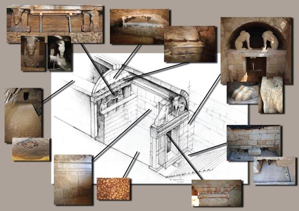 Schema della tomba (Ministero della Cultura della Grecia)