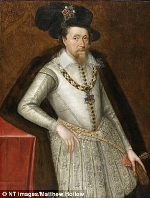 Giacomo I dipinto da John de Critz