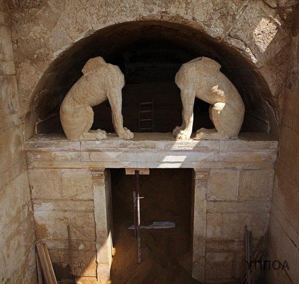 L'ingresso della tomba (Ministero della Cultura della Grecia)