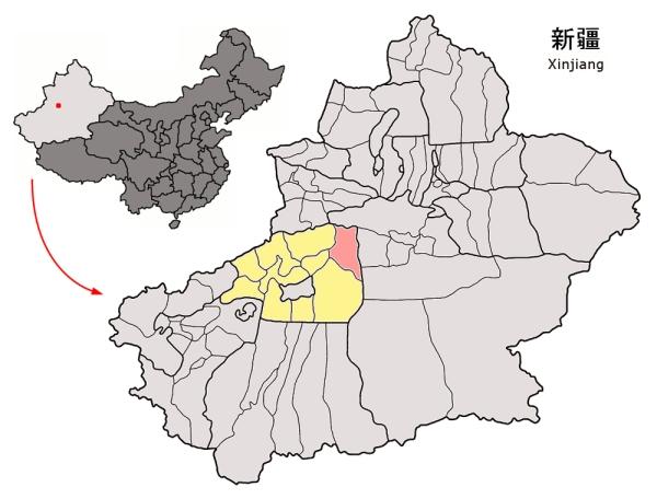 Localizzazione di Kucha (Wikimedia)