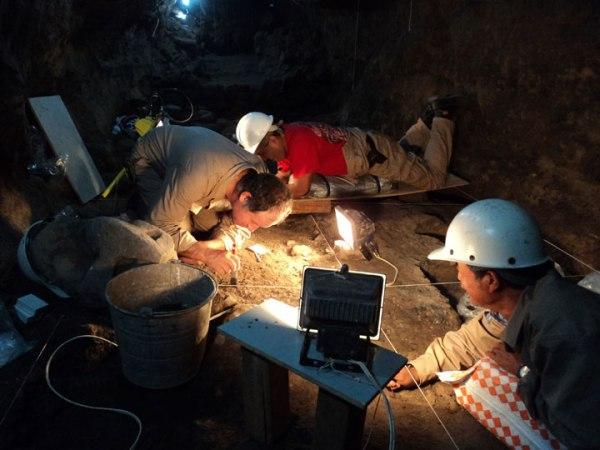 Gli archeologi dell'INAH al lavoro (INAH)