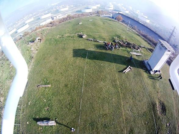 Il campo di Montedoro ripreso da un drone (ICTP e Università di Trieste)