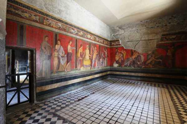 La Sala del triclinio dopo i restauri (MiBACT)