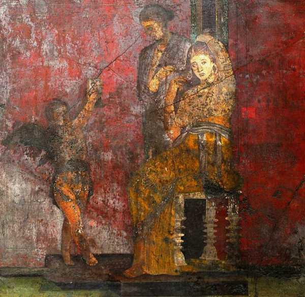 Sala del triclinio - prima del restauro (MiBACT)