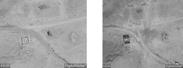 La tomba di Atenatan (DigitalGlobe)