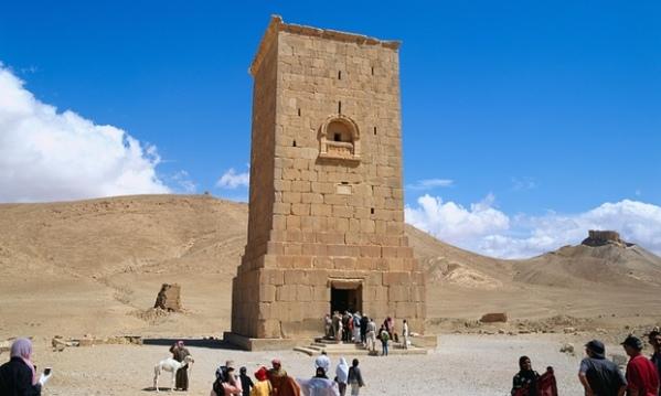 La torre di Elhbel prima della distruzione (Alamy)