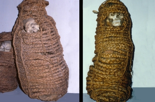A destra, la mummia analizzata (Maria Gloria Roselli/Museum of Anthropology and Ethnology of the University of Florence)