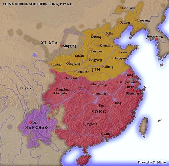 Localizzazione della dinastia Jīn (wikimedia)