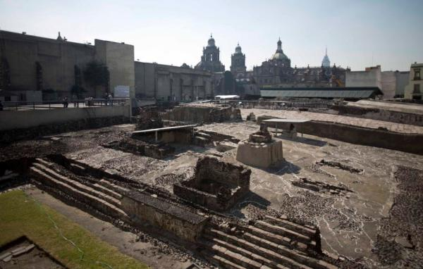 Il sito del Templo Mayor (AP Photo/Eduardo Verdugo)
