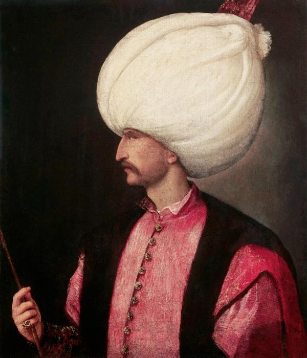 Solimano il Magnifico dipinto da Tiziano (Wikimedia)