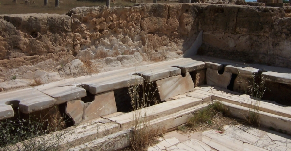 Latrine romane a Leptis Magna, in Libia (Craig Taylor)