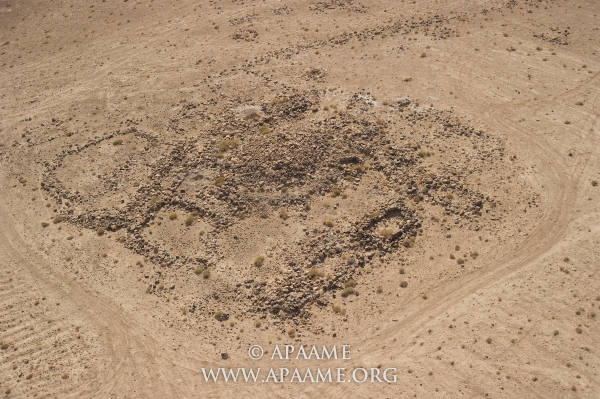 Una delle torri (APAAMEG_20040527_RHB-0010 © Robert Bewley, Aerial Photographic Archive for Archaeology in the Middle East)